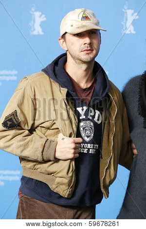 BERLIN - FEB 9: Shia LaBeouf at the 'Nymphomaniac Volume I' photocall - 64th Berlinale International Film Festival at Grand Hyatt Hotel on February 9, 2014 in Berlin, Germany