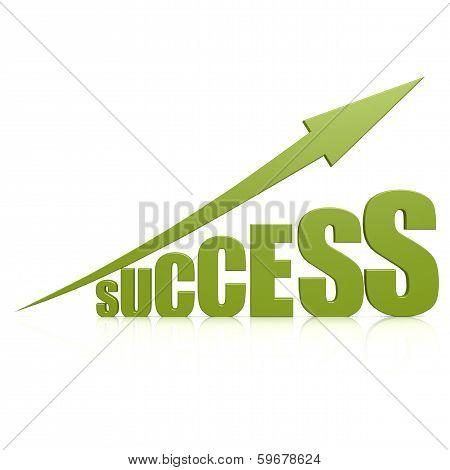 Success Green Arrow