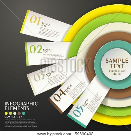 Abstract Concentric Chart Infographics