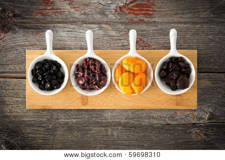 Dried Cranberry, Apricot, Blueberries And Cherries