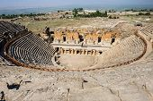 foto of ancient civilization  - Ruins of theater in ancient Hierapolis - JPG