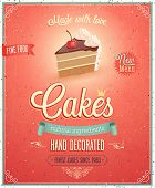 pic of fancy cake  - Vintage Cakes Poster - JPG
