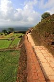 old walls in Sigiriya castle, Sri lanka