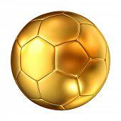 ������, ������: 3d image of classic golden soccer ball