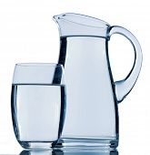 pic of waste reduction  - carafe and a glass of water - JPG