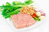 picture of nem  - Thai traditional food fermented ground pork  - JPG