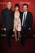 LOS ANGELES - FEB 10:  Alfonso Cuaron, Sheherazade Goldsmith, Guest at the The Hollywood Reporter's