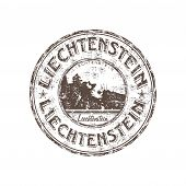 Liechtenstein grunge rubber stamp