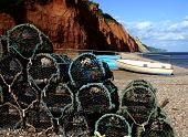 Crab Baskets At Sidmouth Beach