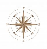 pic of compass rose  - Vector illustration of compass rose isolated on white - JPG