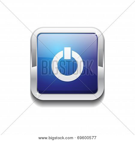 Power Rounded Corner Vector Blue Web Icon Button
