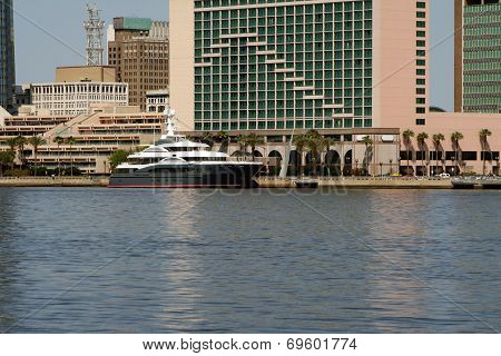 Yacht On The River, Downtown Jacksonville, Florida