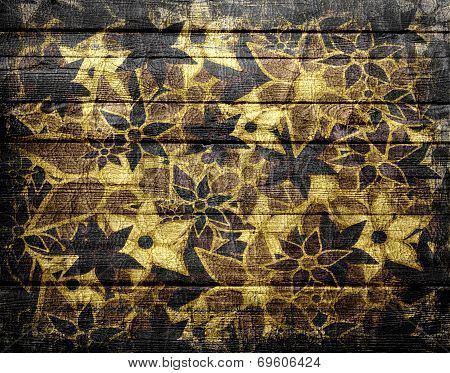 Flower Pattern Vintage Wood