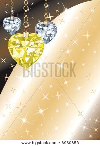 Diamond Heart Background