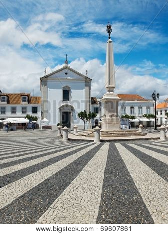 Praca Marques De Pombal. Vila Real De Santo Antonio, Algarve. Portugal.