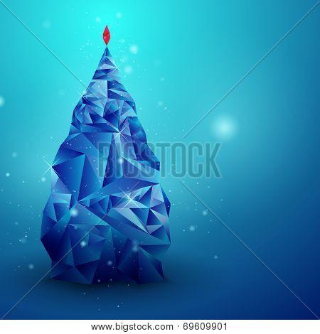 Glassy Christmas Tree