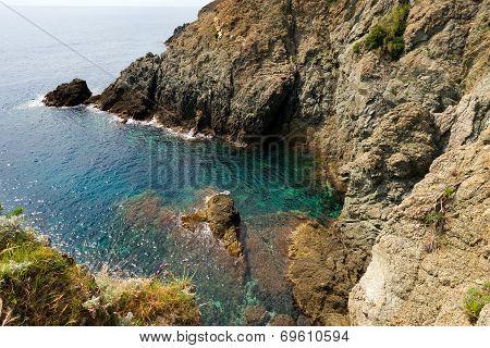Cliffs In Bonassola - Liguria - Italy