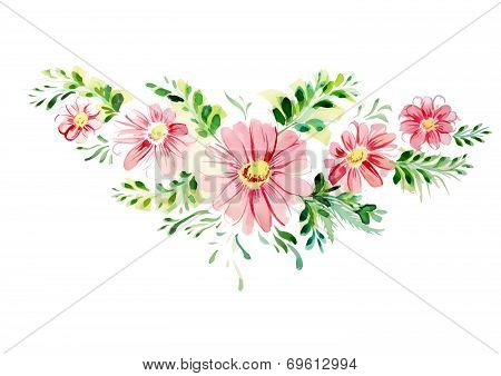 Beautiful Pink Flowers In Different Sizes