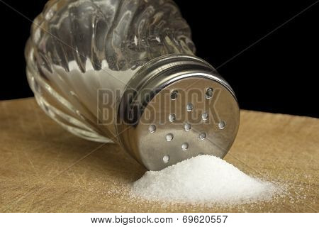 Spilt Salt And Salt Shaker