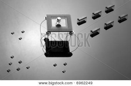 Armee von Chips und Halbleiter