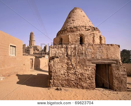 Scenery Of Al-qasr With Minaret, A Village In The Dakhla Oasis In Egypt