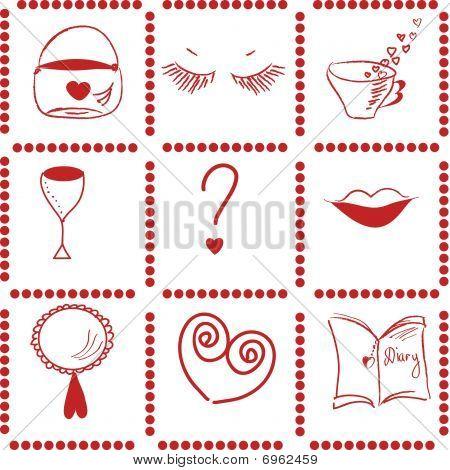 Girl things pattern