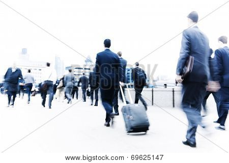 Commuters in the city.