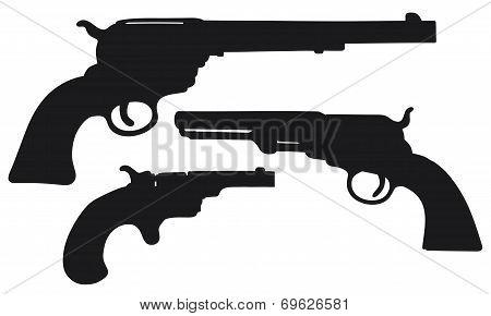 Old american handguns