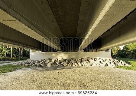 Under Sanibel Island Bridge