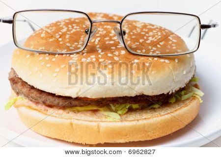 Jolly Clever Sandwich With Glasses