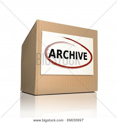 The Word Archive On A Paper Box