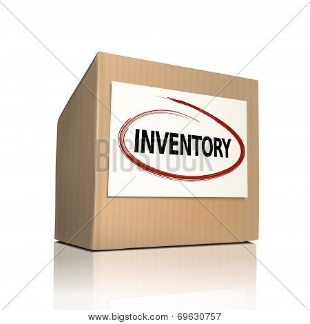 The Word Inventory On A Paper Box