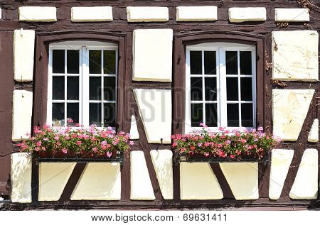 Traditional French houses in Colmar