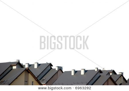 Rowhouse Roofs Isolated