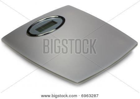 Digital Bathroom Scale Isolated