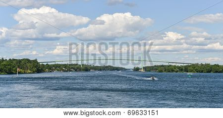 The Thousand Islands Bridge And Boat