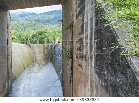 Spillway And The Mountain