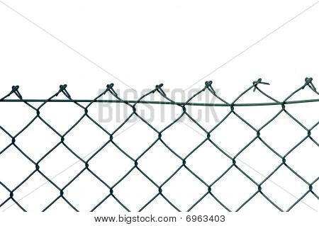 New Wire Security Fence Isolated