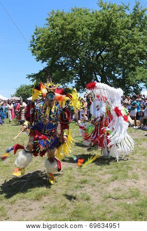 Unidentified Native American dancers at the NYC Pow Wow in Brooklyn