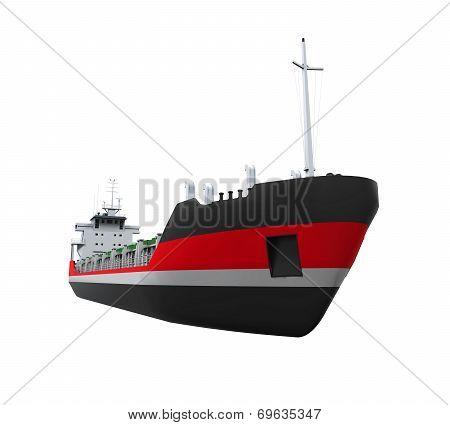 Cargo Ship Isolated
