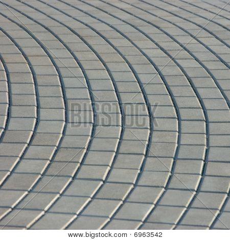 Cobblestone Pavement Texture, Isolated