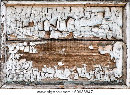 Old Grunge Cracked Wooden Frame