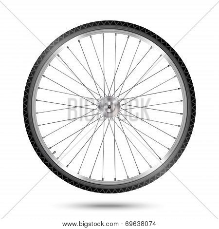 Vector Bicycle Wheel