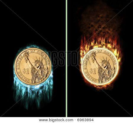 Frozen And Burning Dollar