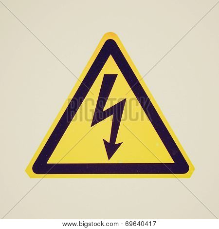 Retro Look Danger Of Death Electric Shock