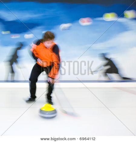 Curling Brooming