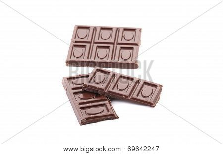 Close up of chocolate bars.