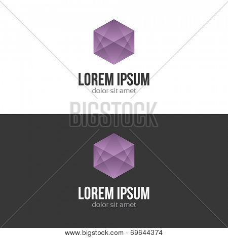 Business abstract logo design template