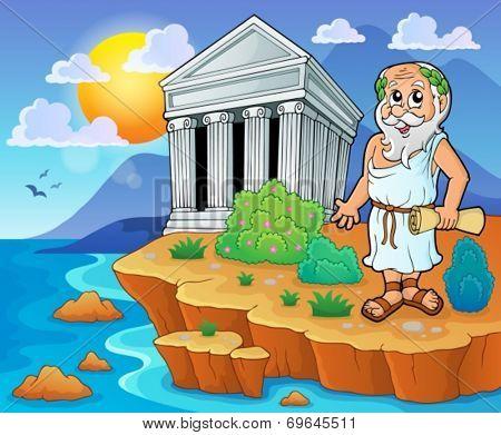 Greek theme image 2 - eps10 vector illustration.