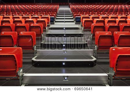 Empty Seats And Aisle